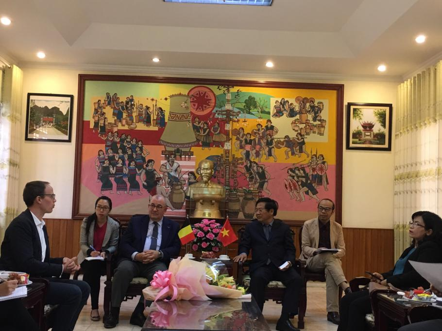 Belgium Ambassador Jansen meeting with Kon Tum Provincial People Committee